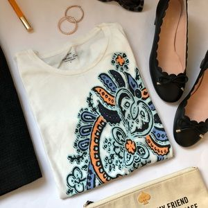 J. Crew Factory Paisley Collector Tee
